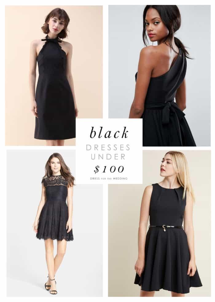 Cute Black Dresses Under 100