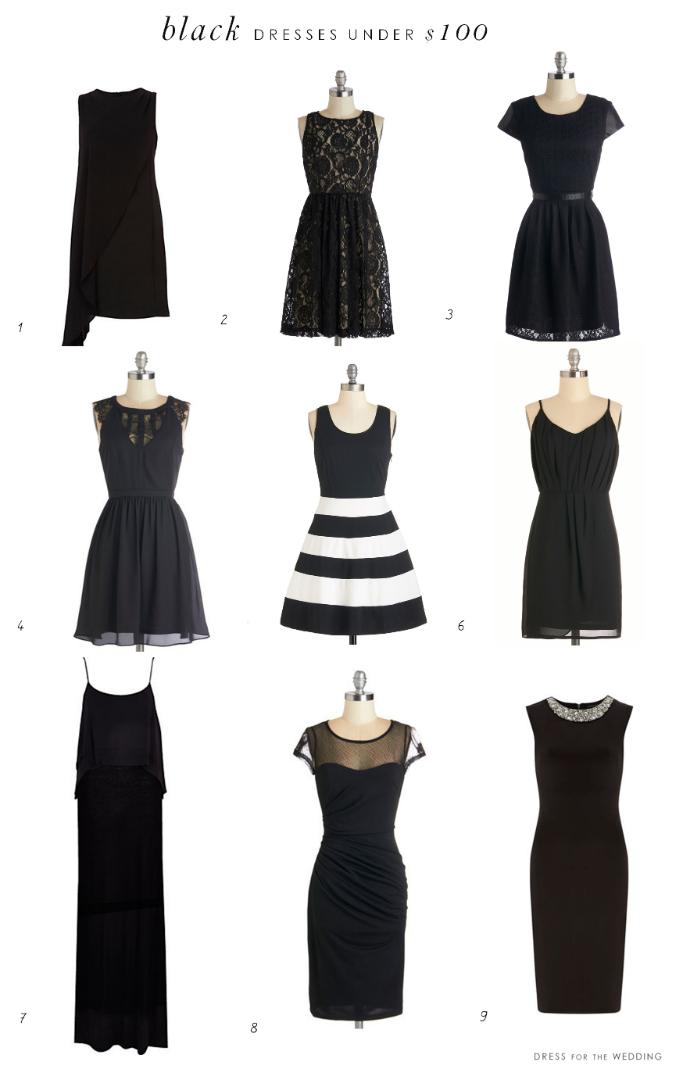 Black dresses under $100
