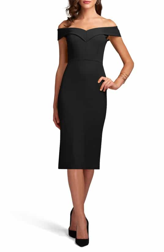 Classic Black Cocktail Dress under $100
