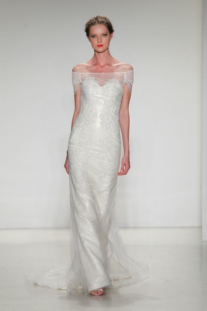 Elana off-the-shoulder Wedding Dress by Kelly Faetanini