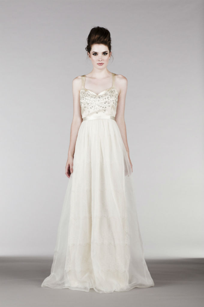 Embellished bodice wedding dress by Saja Wedding