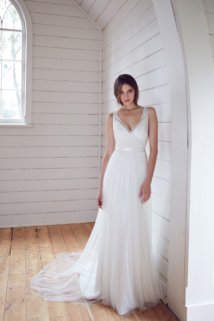 Karen Willis Holmes Wedding Dresses KWH Bespoke Wedding Dresses Trinity wedding gown with Nadia Slip