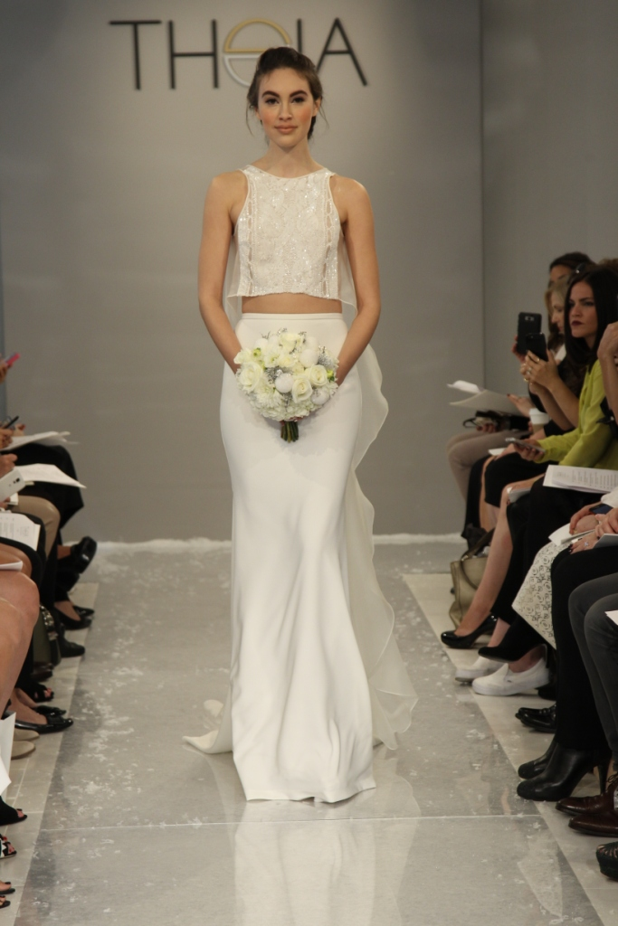 Suren Wedding Dress Theia White Collection Fall 2015