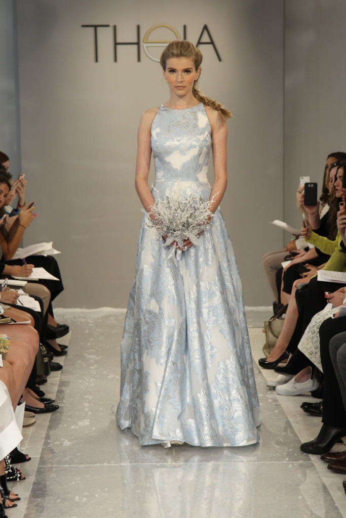 Ice blue wedding gown Erdene Wedding Dress Theia White Collection Fall 2015