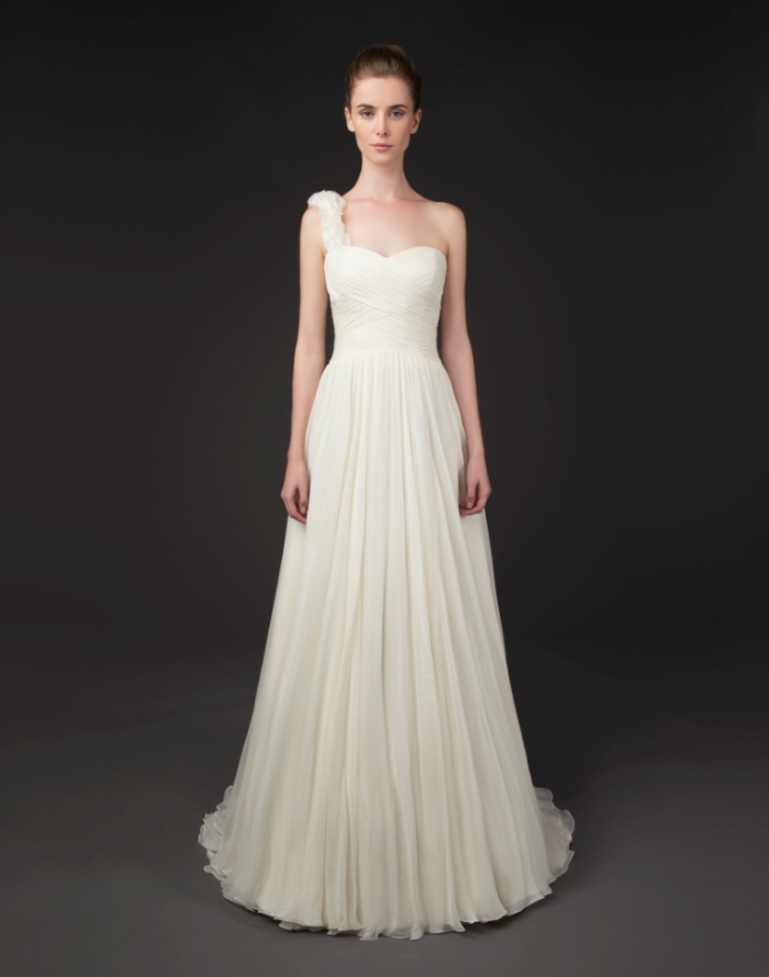One shoulder wedding gown by Winnie Couture Haley