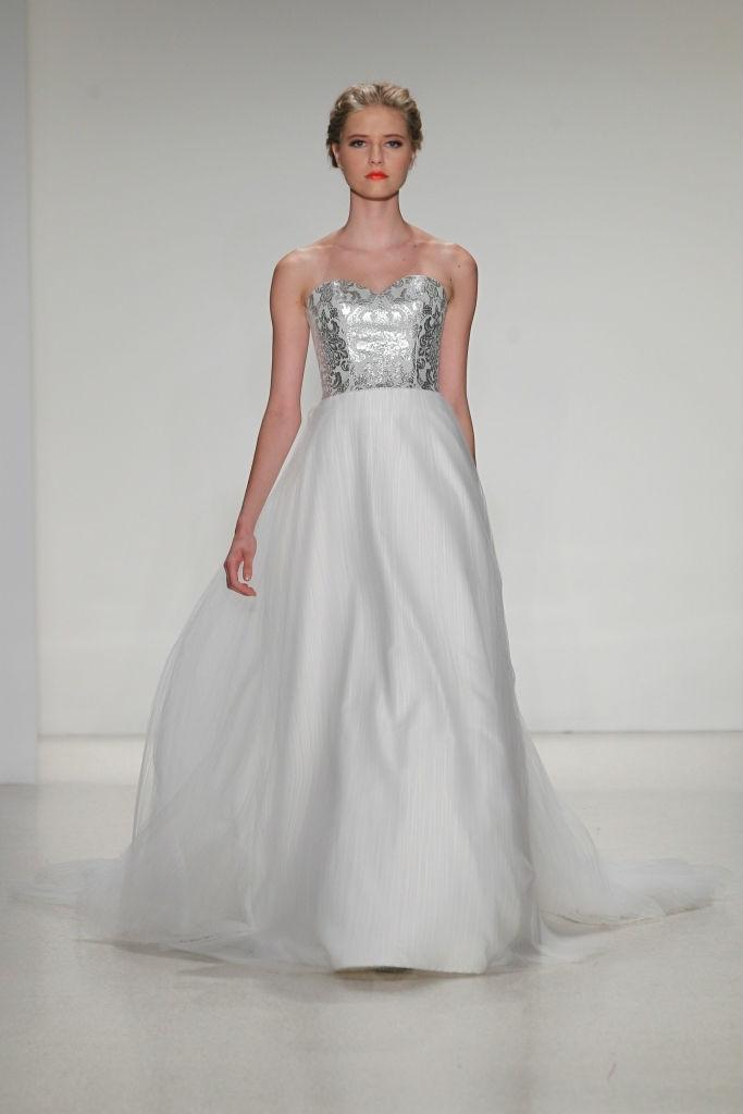 Perla silver bodice wedding gown