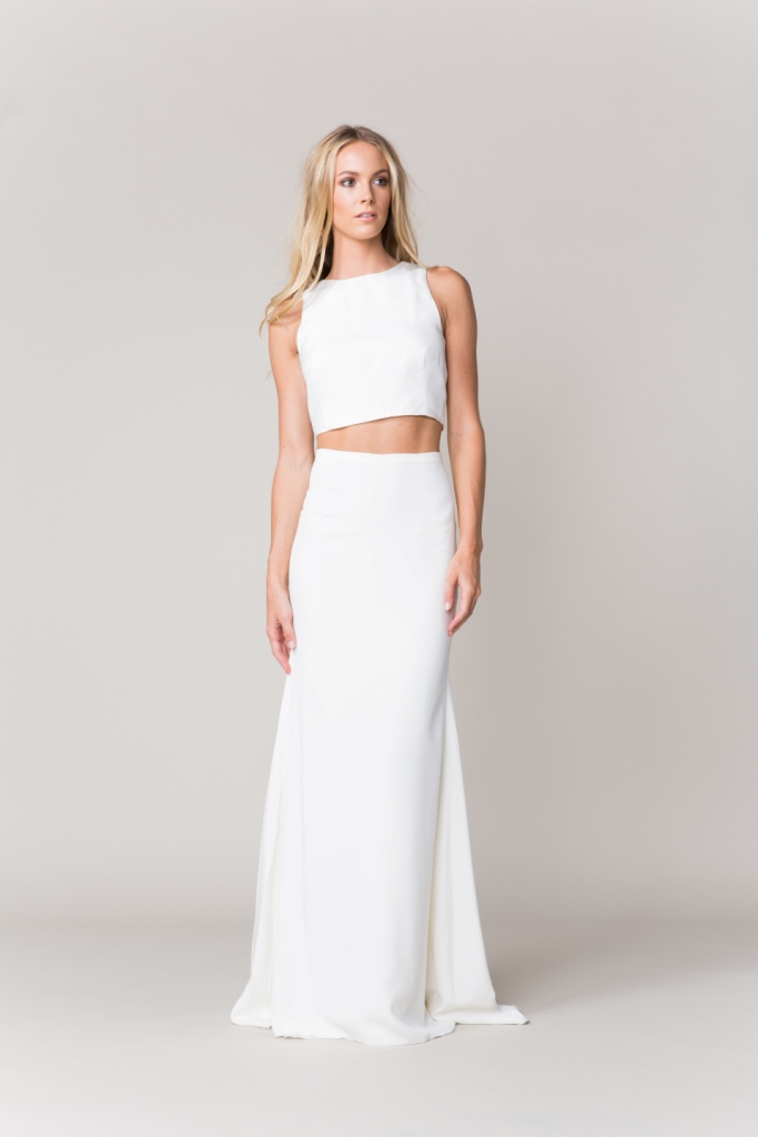 Bridal separates by Sarah Seven | 'Renne' crop top and skirt