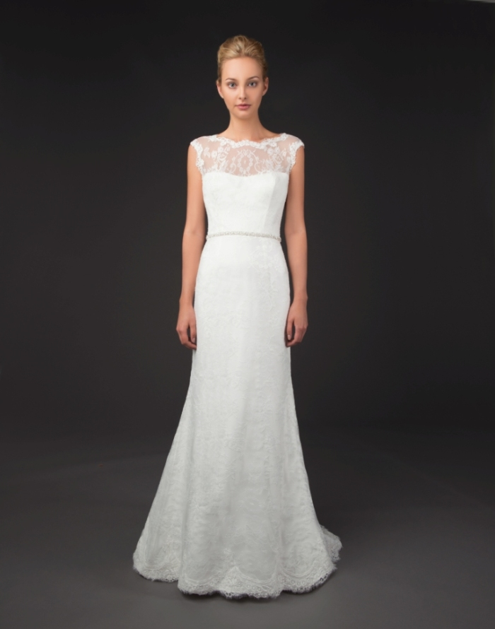 Sevina by Winnie Couture, illusion neckline wedding dress
