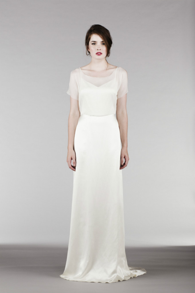 Saja Wedding Illusion Top Gown
