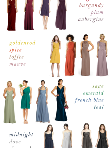 Top colors for bridesmaid dresses for fall