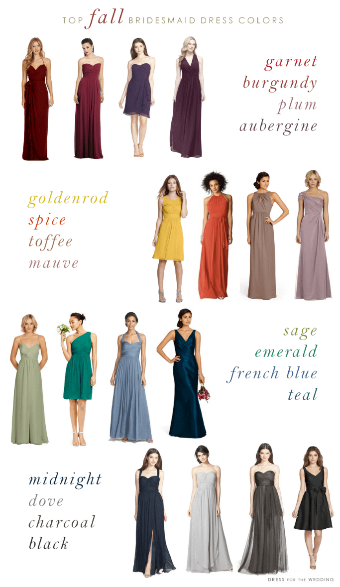 Top colors for fall bridesmaid dresses ombrellifo Image collections