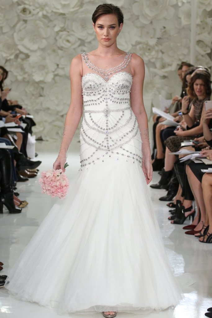 Watters Isa Gown, wedding dress with embellishment