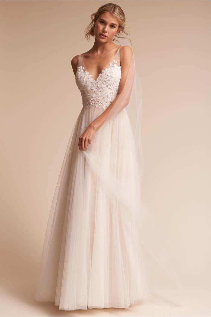 Lace Wedding Dresses Under 400 : Gown is only bhldn has a huge selection of wedding dresses