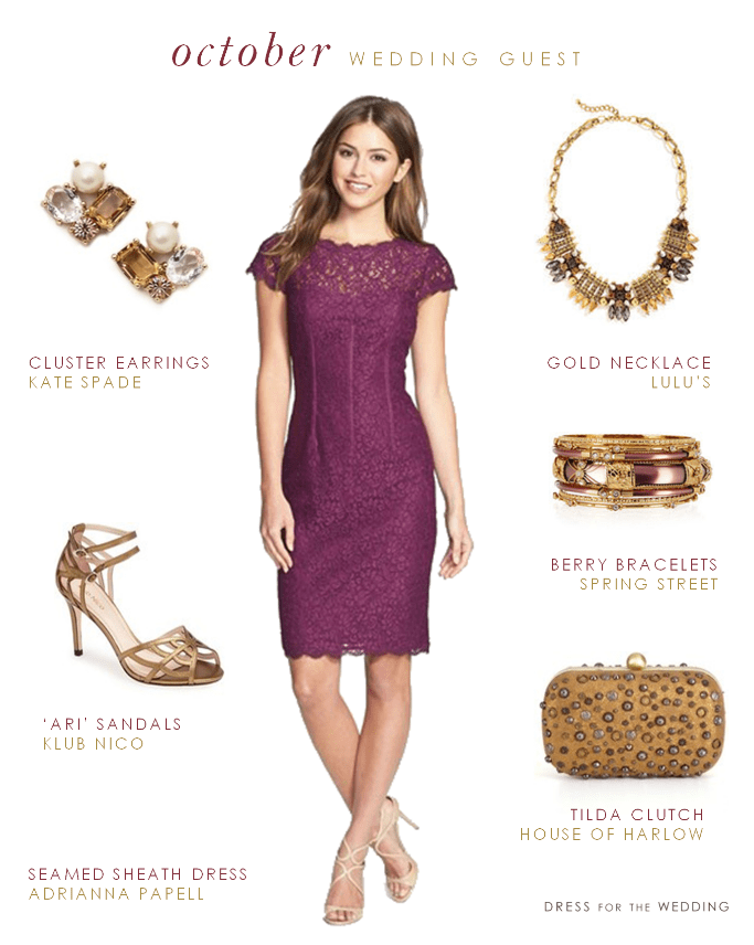 Wedding Guest Dresses For The Fall : Daytime wedding