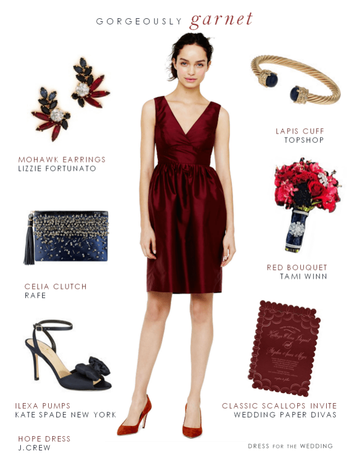 Garnet color dress