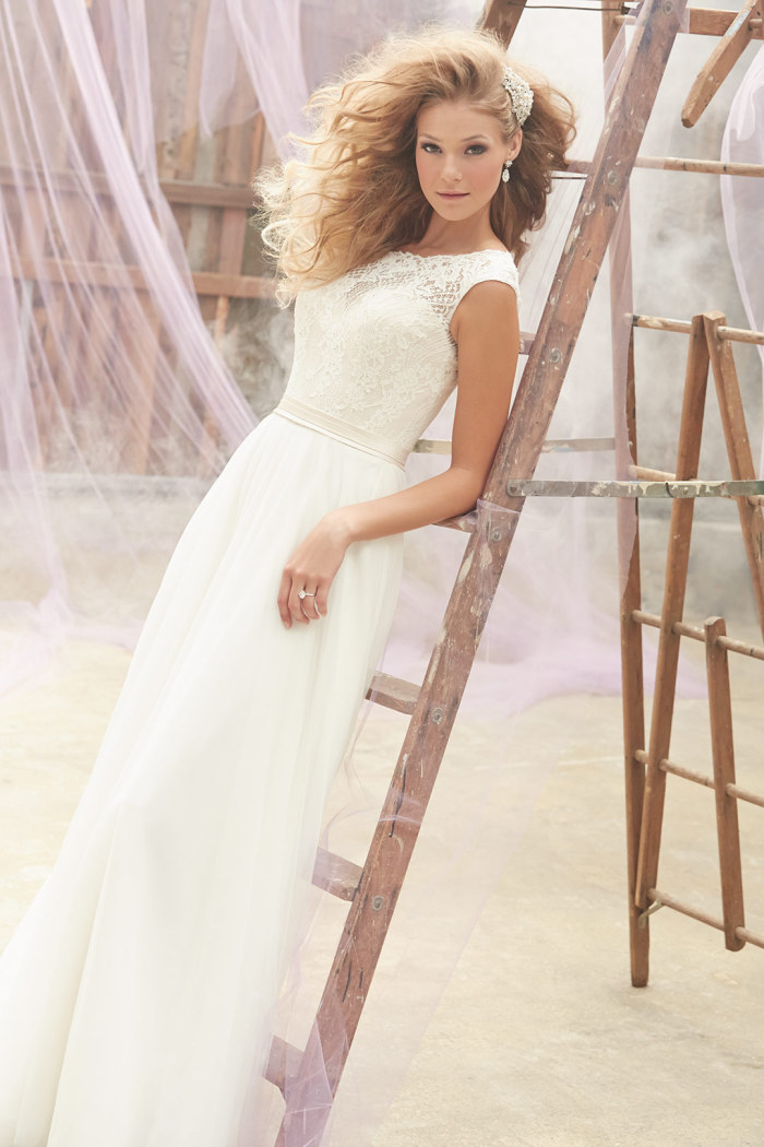 Madison James Cap Sleeve Wedding Gown Spring 2015 Style MJ101