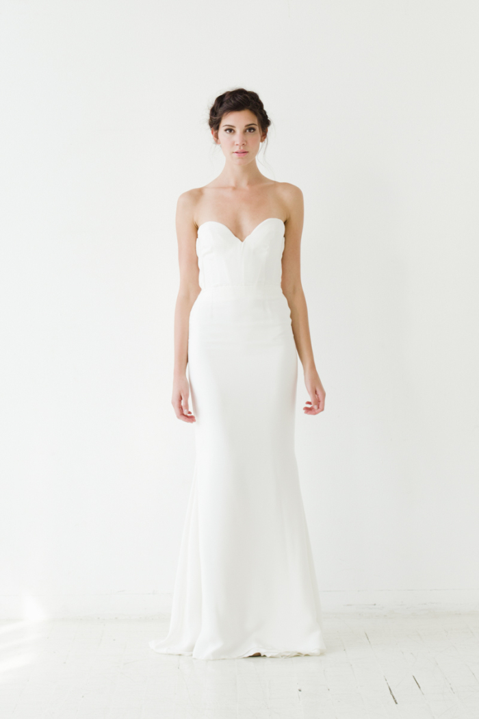 Mercer slip Sarah Seven Wedding Dresses 2015
