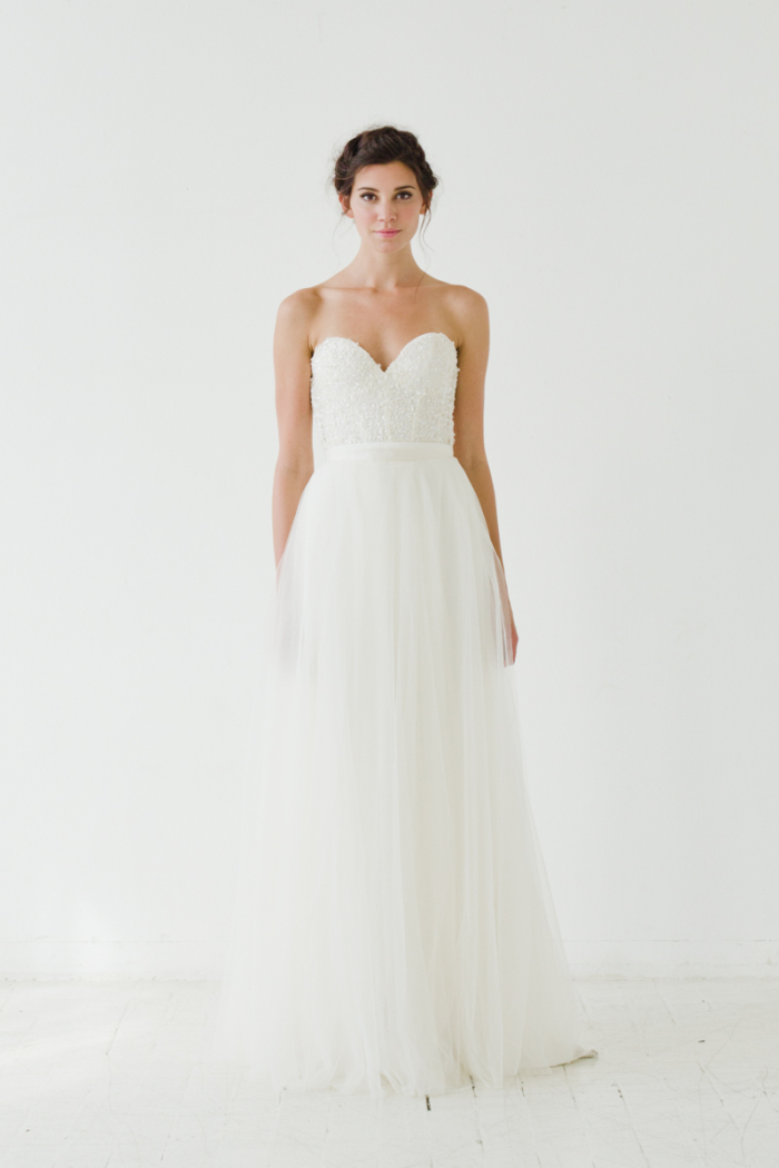 Mulberry Skirt Sarah Seven Wedding Dresses 2015