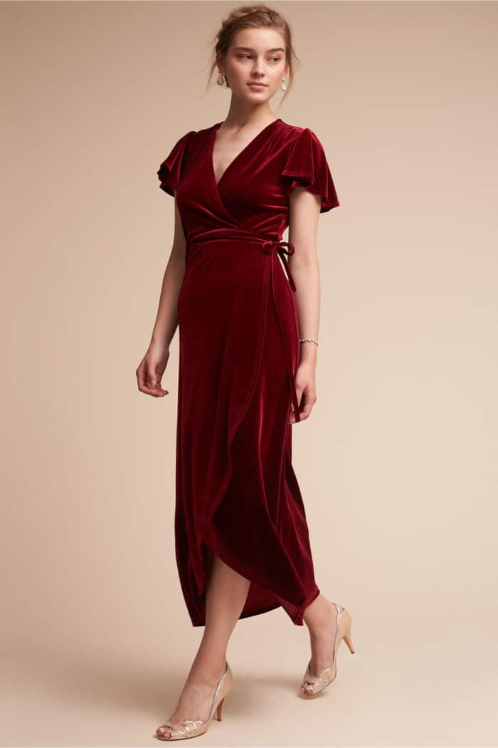 Red Velvet Party Dress