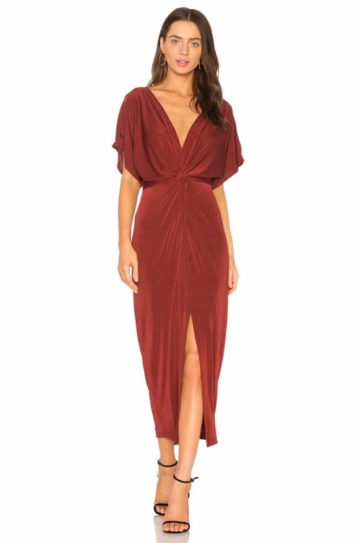 Spice Colored Maxi Dress for Fall