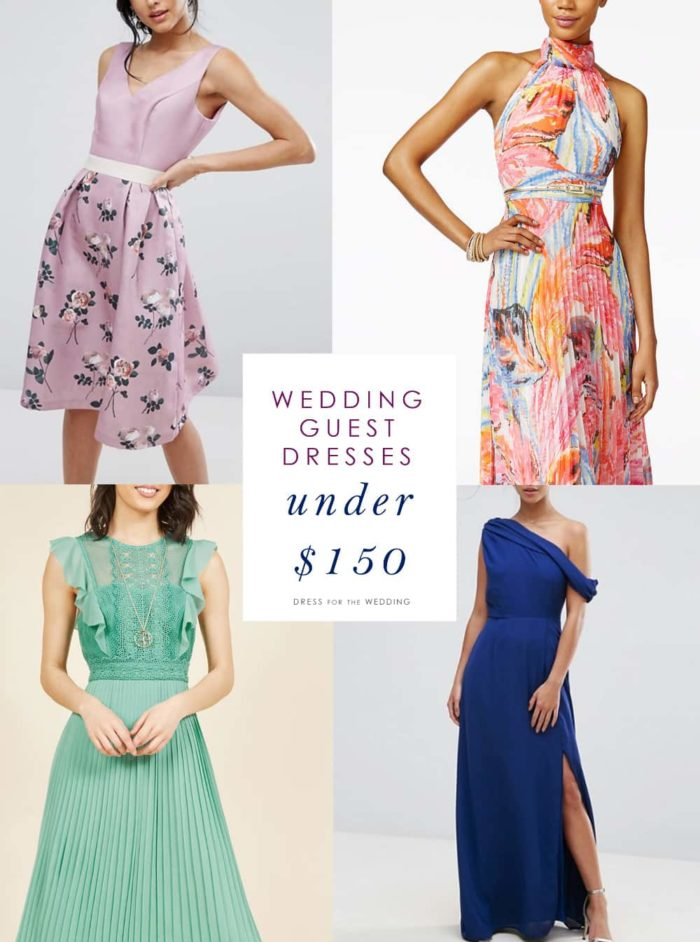 Pretty Wedding Guest Dresses Under 150 Dollars