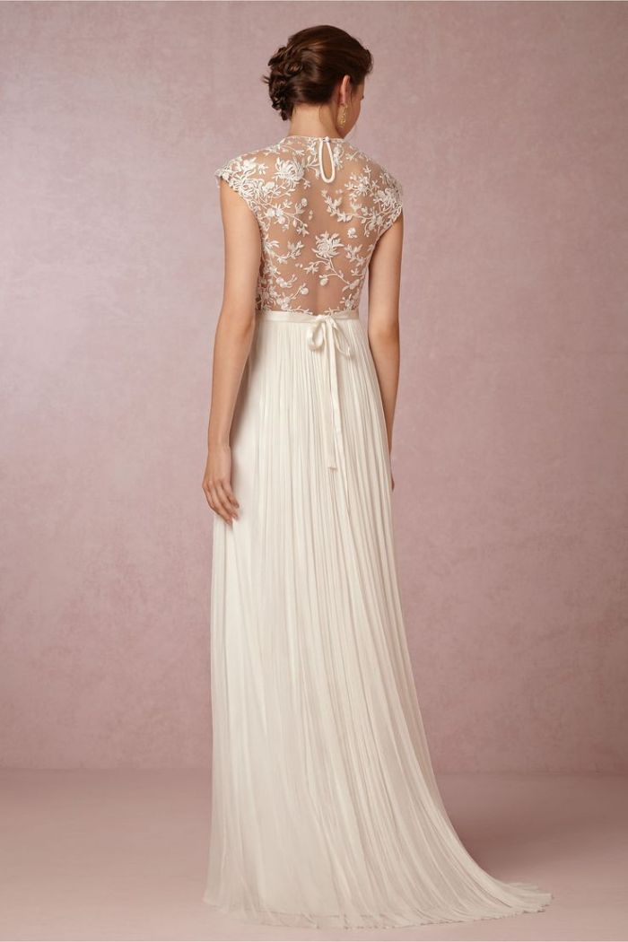 beautiful back on catherine deane wedding dress at bhldn