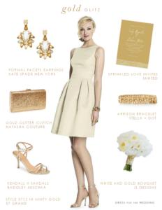 pretty gold bridesmaid dress