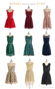 Holiday Party Dresses under $100