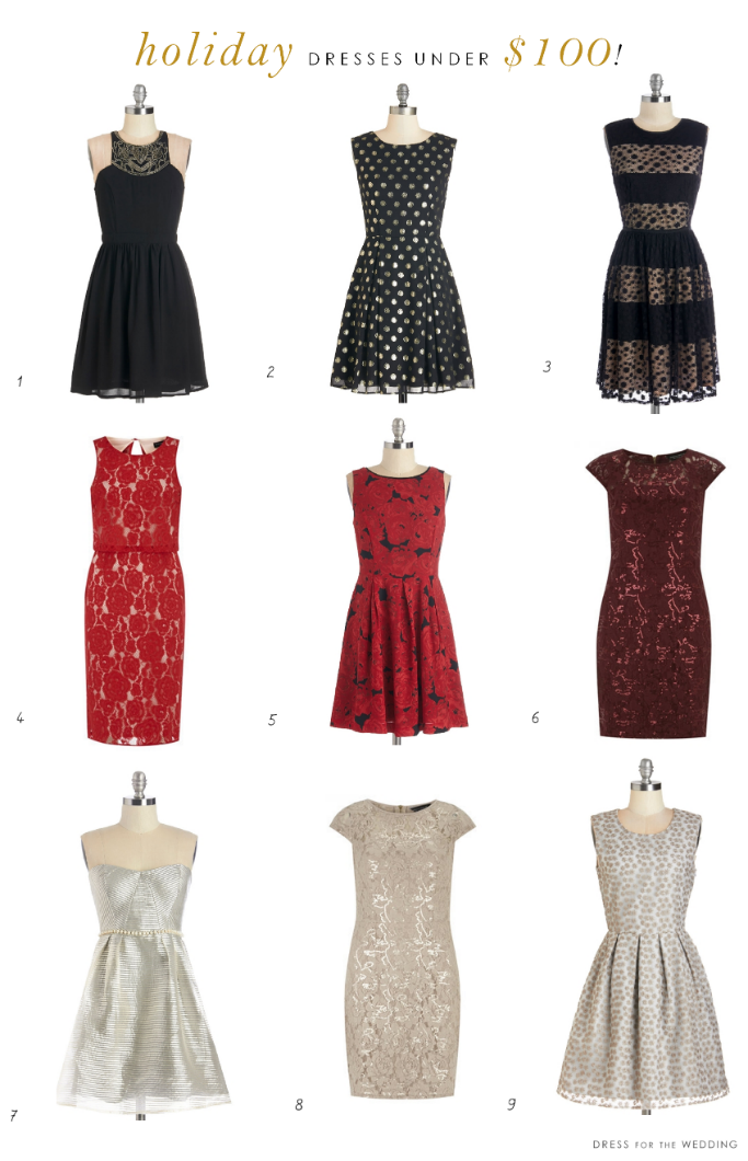 party dresses for the holidays under $100