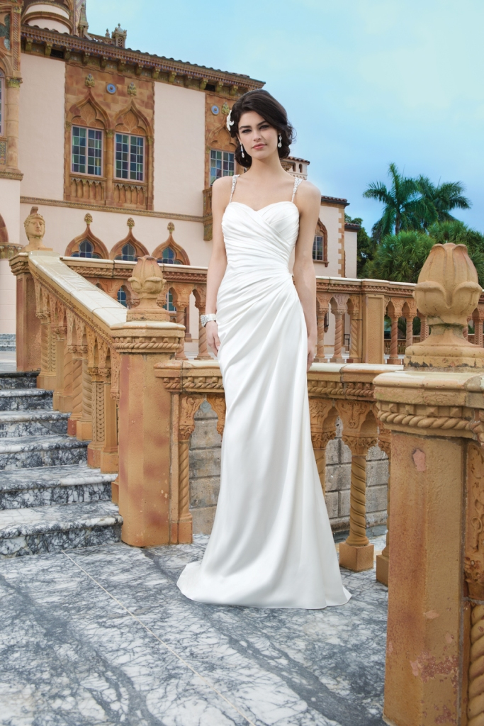 Satin Wedding Gown Style 3847 from Sincerity Bridal