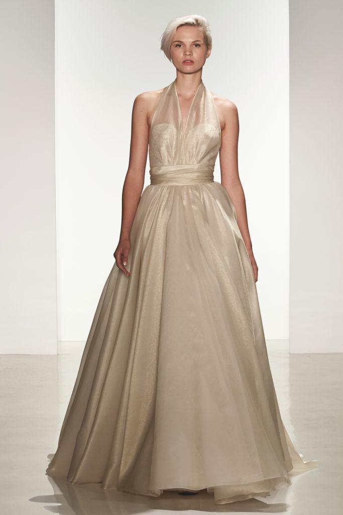 Gold wedding gown