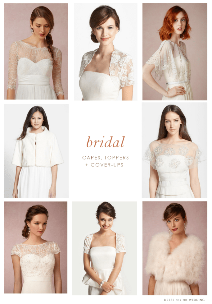 Wraps, Lace Toppers, and Cover-ups for the Bride