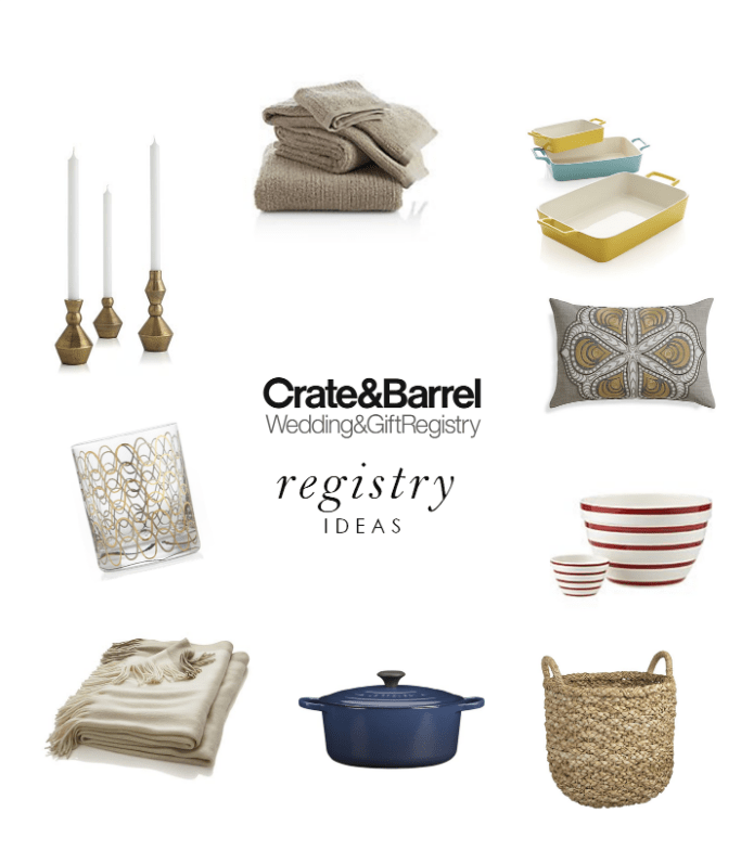 What to Include on Your Wedding Registry with Crate Barrel