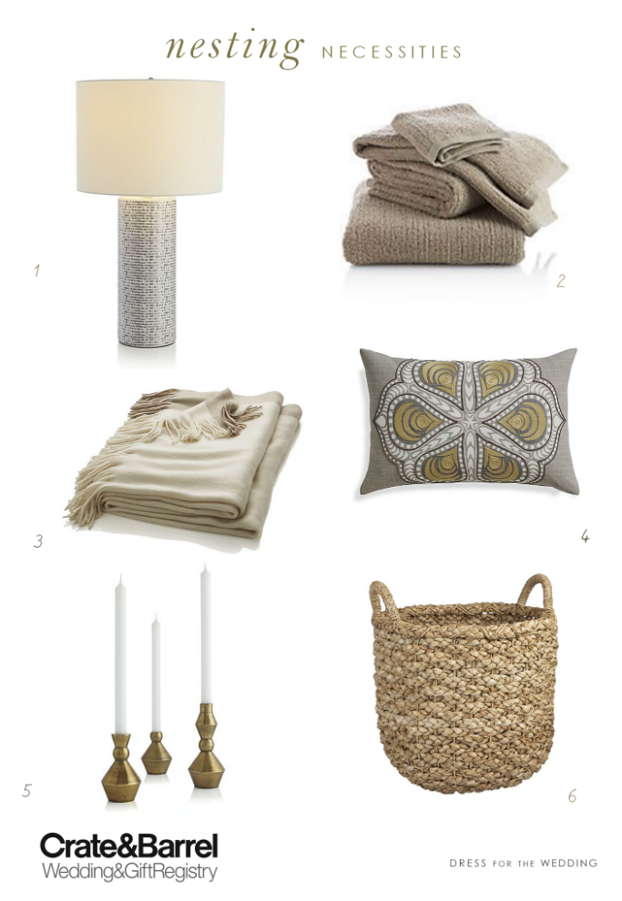 Home accessories for your wedding registry