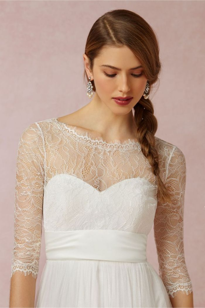 Lace topper for a bride from BHLDN