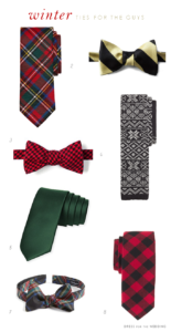 Plaid Ties and Ties for Winter Weddings