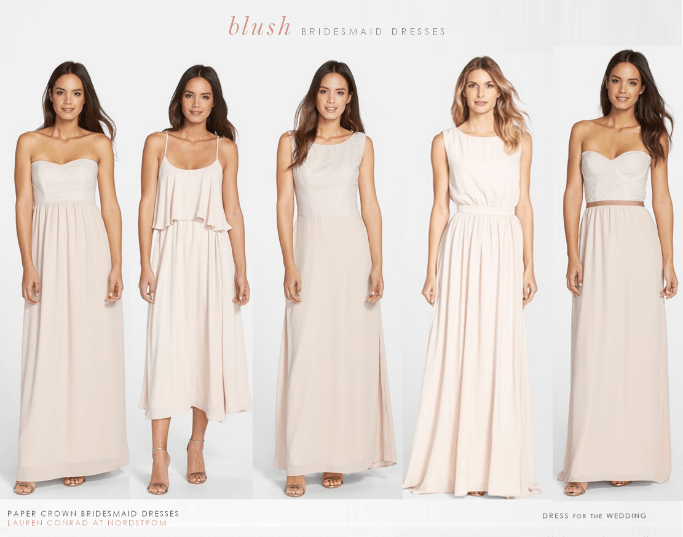 Lauren Conrad's Bridesmaid Dresses for Paper Crown - Spring Wedding Archives At Dress For The Wedding