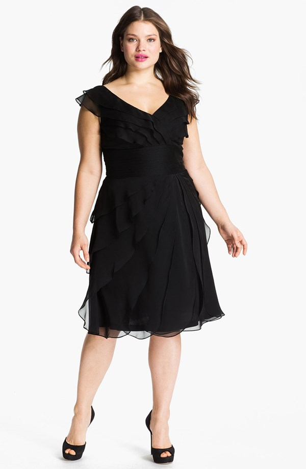 short black mother of the bride dress