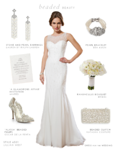 Beaded Wedding Gown by Lillian West