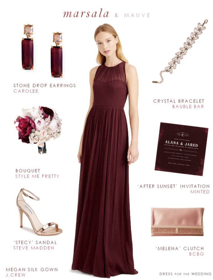 Cabernet bridesmaid dresses