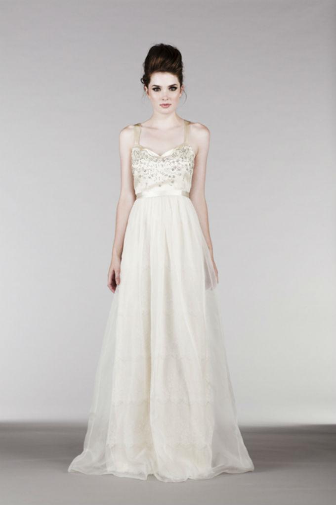 Embellished bodice wedding dress by Saja Wedding