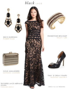 black gown for mother of the bride