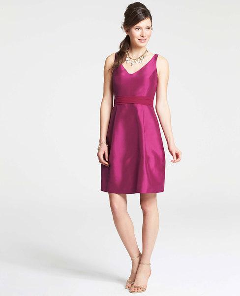 Raspberry dress for bridesmaids