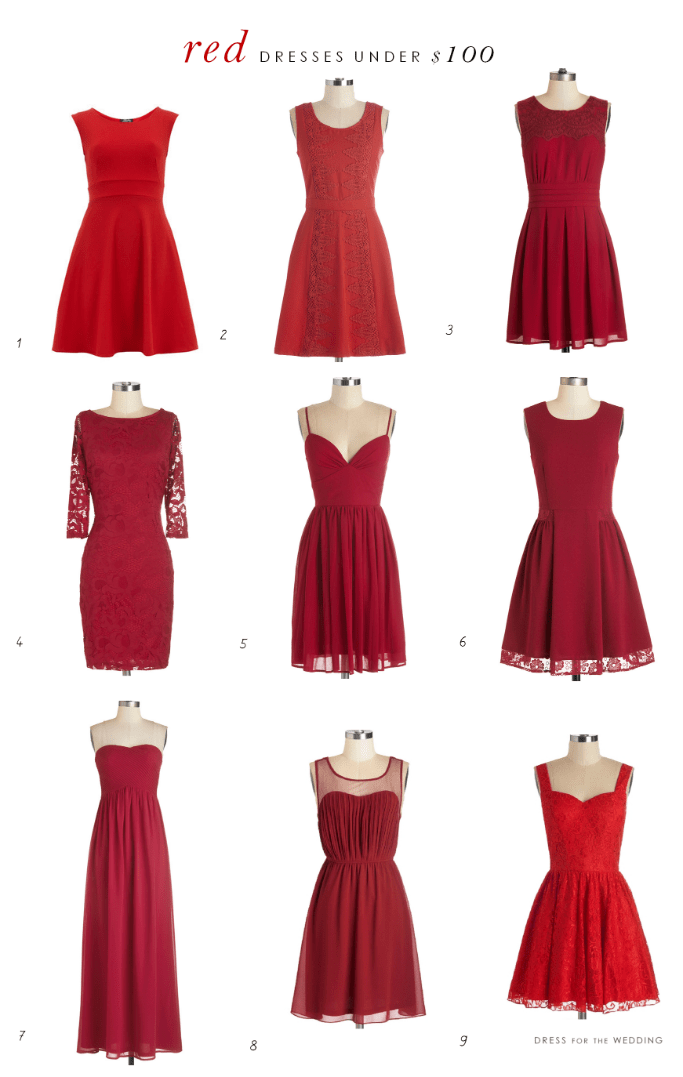 red dresses under $100