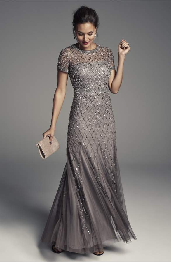 Beaded or Sequined Mother of the Bride Dresses