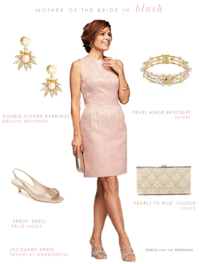 Blush mother of the bride dress | Blush mother of the bride outfit