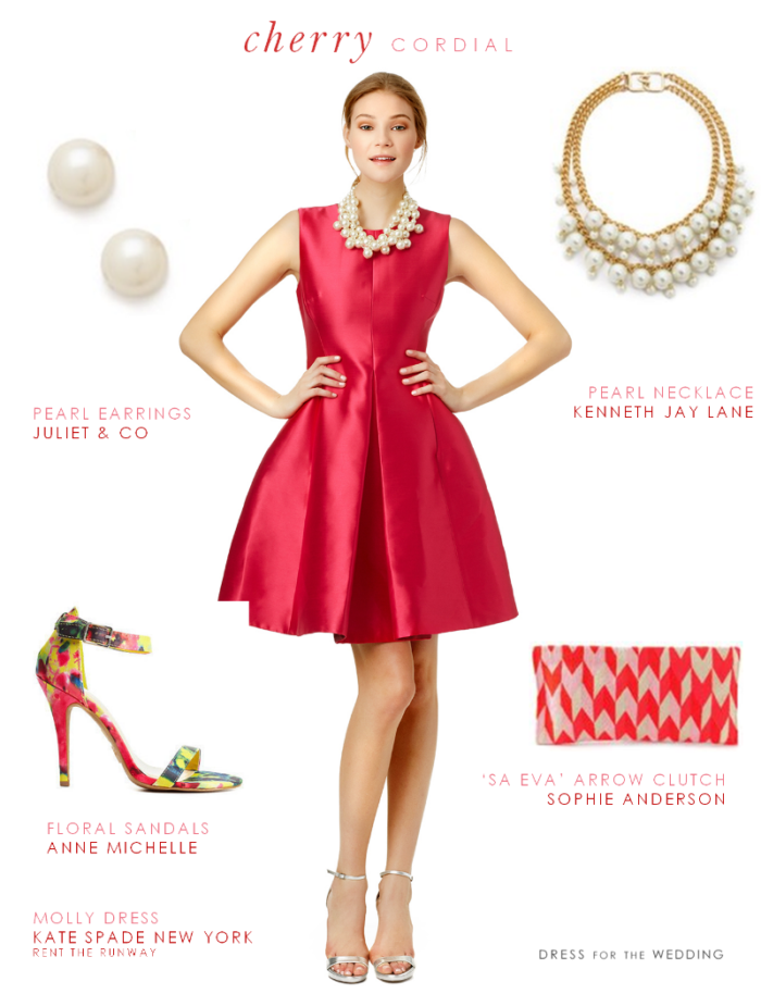 Cherry red cocktail dress for Cocktail dresses to wear to a wedding