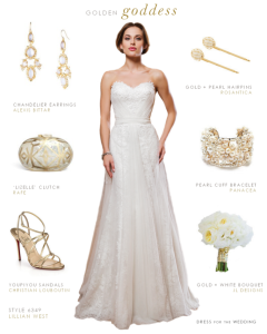 Goddess Wedding Gown by Lillian West