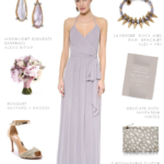 Gray maxi dress for bridesmaids