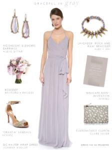 Gray maxi dress for bridesmaids